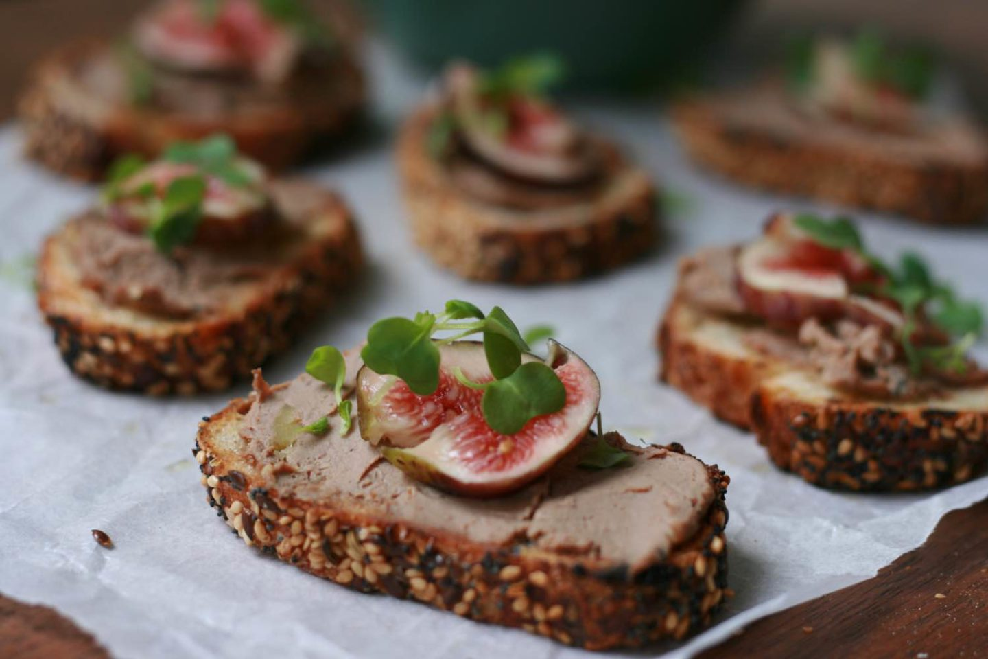Whisky and rosemary pate with fresh figs